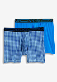 Jockey® Active Micro Midway Briefs 2-Pack, BLUE MULTI