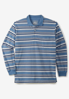 Liberty Blues® Long-Sleeve Polo Shirt , VARSITY BLUE MULTI STRIPE