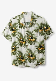 KS Island™ Tropical Caribbean Camp Shirt, TOUCAN
