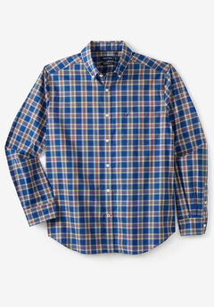 Nautica® Stretch Poplin Long-Sleeve Button Down Shirt, LIMOGES PLAID
