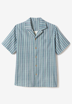 Gauze Camp Shirt, BLUE MIRAGE STRIPE