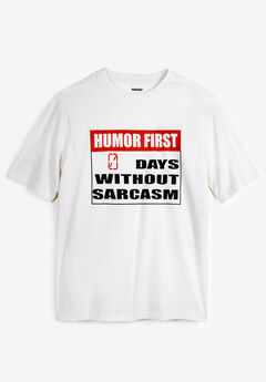 KingSize Slogan Graphic T-Shirt, HUMOR FIRST