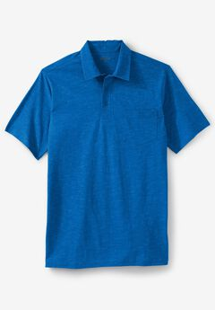 Lightweight Polo T-Shirt, ROYAL BLUE HEATHER