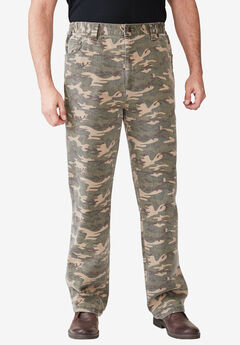 Liberty Blues® Relaxed Fit 5-Pocket Stretch Jeans, CAMO
