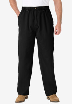 Knockarounds® Full-Elastic Waist Pants in Twill or Denim, BLACK