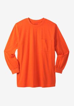 Boulder Creek® Heavyweight Crewneck Long-Sleeve Pocket T-Shirt,