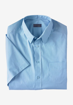 KS Signature Classic Fit Broadcloth Flex Short-Sleeve Dress Shirt, SKY BLUE