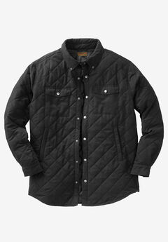 Quilted Shirt Jacket by Boulder Creek®, BLACK