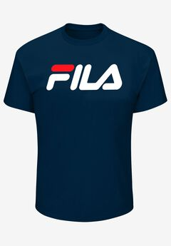 FILA® Short-Sleeve Logo Tee, NAVY