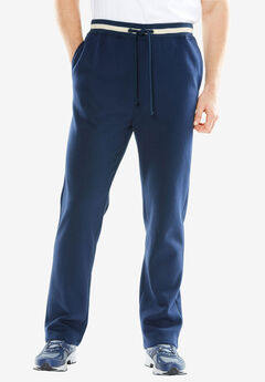 KingSize Coaches Collection Fleece Open Bottom Pants,