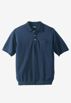 Banded Bottom Pocket Piqué Polo Shirt,