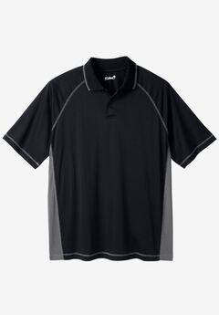 Raglan Sleeve Swim Polo, BLACK STEEL