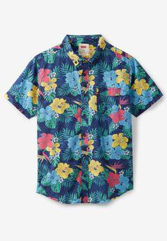 Short-Sleeve Woven Shirt by Levi's®, DRESS BLUE FLORAL