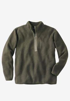 Quarter ZIp-Front Sherpa Jacket,