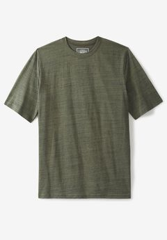 Crewneck Flex Short-Sleeve Tee by Liberty Blues® , OLIVE BRUSH MARL