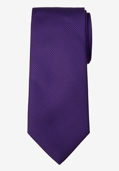 KS Signature Extra Long Classic Textured Tie, BRIGHT PURPLE