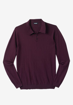 Lightweight Polo Sweater,