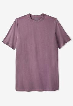 Lightweight Longer-Length Crewneck T-Shirt,