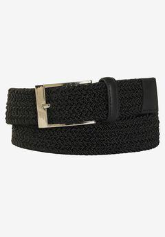Elastic Braid Belt, BLACK