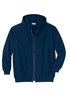 Fleece Zip-Front Hoodie, NAVY