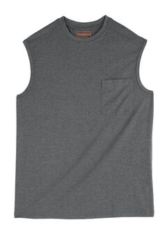 Heavyweight Pocket Muscle Tee by Boulder Creek®, HEATHER SLATE