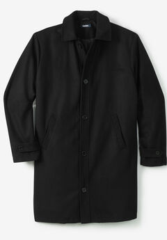 Wool Dress Coat, BLACK