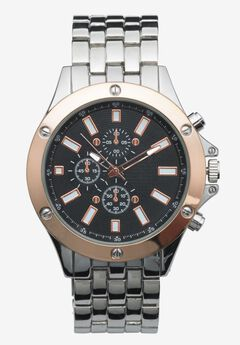 Two Tone Metal Watch,