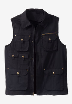 Boulder Creek™ Multi Pocket Vest, BLACK