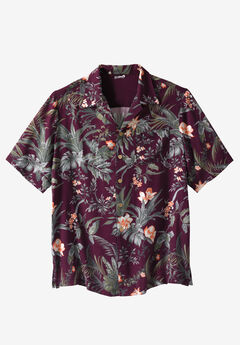 KS Island™ Printed Rayon Shirt, HARVEST ISLAND