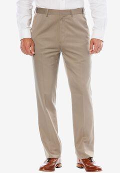 KS Signature No Hassle® Classic Fit Expandable Waist Plain Front Dress Pants, TAUPE