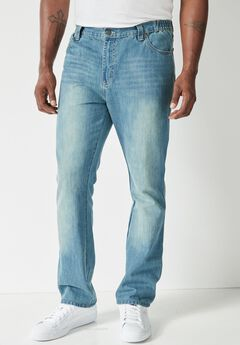 Liberty Blues® Relaxed Fit Side Elastic 5-Pocket Jeans,