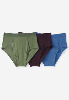 Classic Cotton Briefs 3-Pack, ASSORTED COLORS