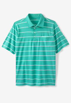 Performance Golf Polo , TIDAL GREEN STRIPE