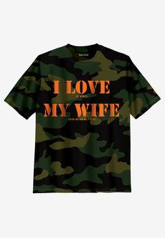 KingSize Slogan Graphic T-Shirt, WIFE