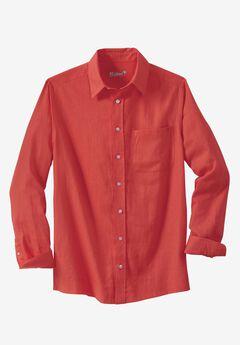 Linen Blend Dress Shirt by KS Island™, MELON