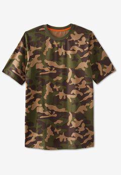 Boulder Creek® Heavyweight Jersey Crewneck T-Shirt, OLIVE CAMO