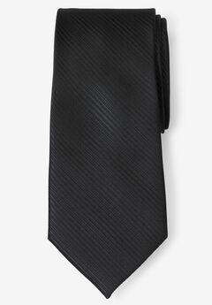 Classic Textured Tie, JET BLACK