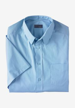 Classic Fit Broadcloth Flex Short-Sleeve Dress Shirt by KS Signature, SKY BLUE