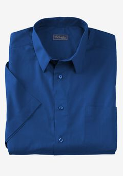 No Hassle® Short-Sleeve Dress Shirt by KS Signature®, MIDNIGHT NAVY