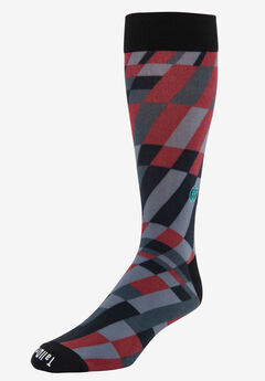 TallOrder: The Earl Sock, RED MODERN GRID