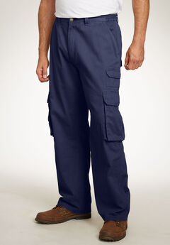 Boulder Creek® Side-Elastic Stacked Cargo Pocket Pants, NAVY