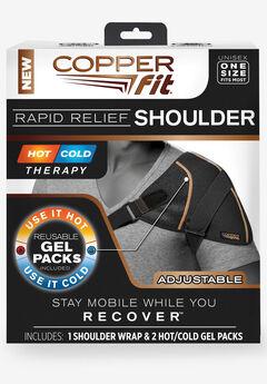 Copper Fit™ Rapid Relief Shoulder Wrap, BLACK
