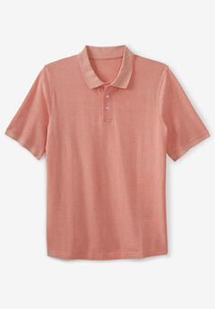 Piqué Polo Shirt, HEATHER LIGHT ORANGE