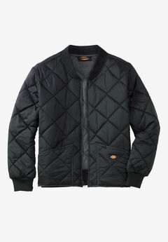 Diamond Quilted Nylon Jacket by Dickies®, BLACK