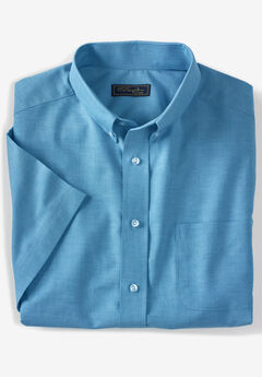 KS SIGNATURE WRINKLE-RESISTANT SHORT-SLEEVE OXFORD DRESS SHIRT,