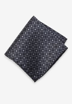 KS Signature Pocket Square, CHARCOAL GEO