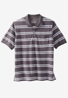 Liberty Blues® Pocket Piqué Polo Shirt, STEEL STRIPE