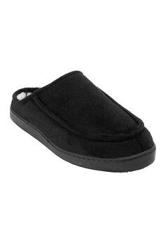 Microsuede Clog Slippers, BLACK