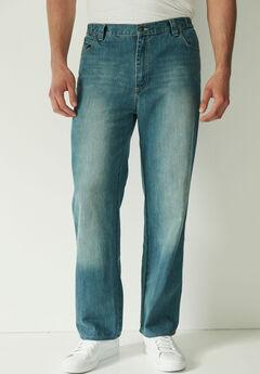 Liberty Blues® Loose Fit Side Elastic 5-Pocket Jeans,