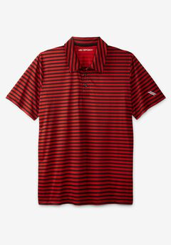 KS Sport™ Performance Polo, BLAZE RED STRIPE